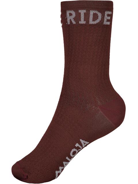 Maloja RoevelM. Sport Socks maroon